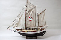 Collin Archer Båt 67x67 cm