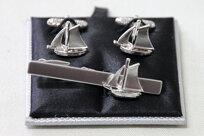 Segelbåt - Manschettknappar & Slipsnål